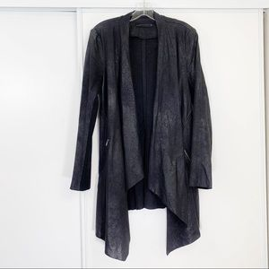 Zara Black Metallic Long Asymmetrical Cardigan ❣️